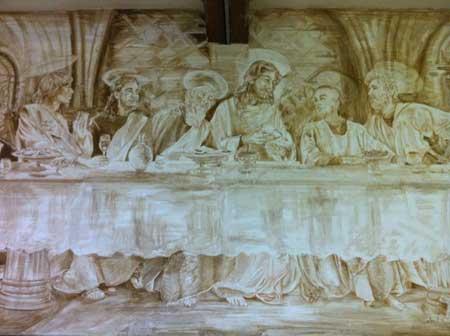 last supper fresco by Eleanor Yates