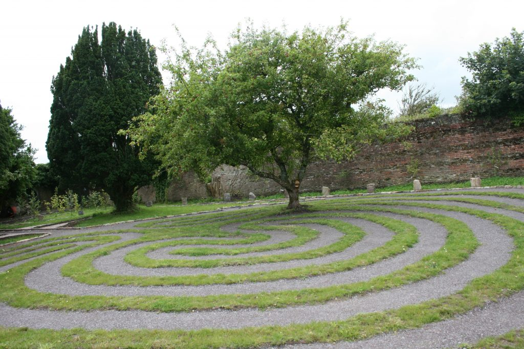 The labyrinth in the Prayer garden